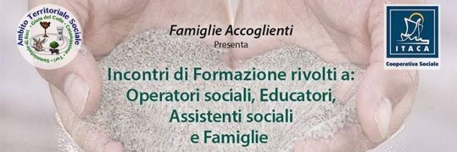«Famiglie Accoglienti», incontri di formazione da marzo a maggio