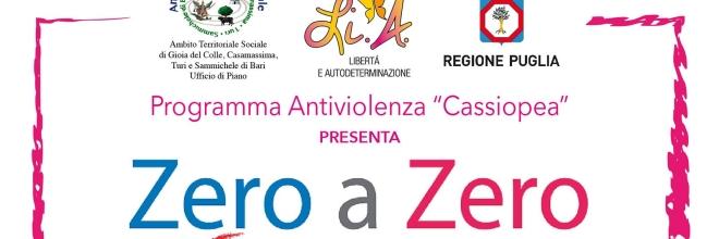 """""""Zero a Zero"""", uno spettacolo per la giornata internazionale per l'eliminazione della violenza sulle donne"""