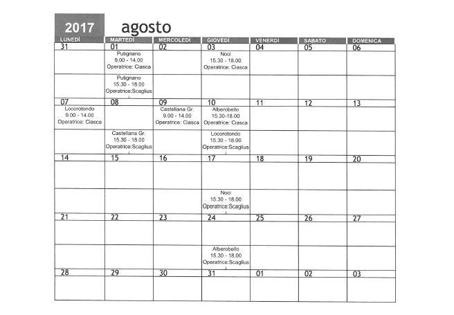 Calendario Di Luglio.Red Ecco Il Calendario Estivo Dello Sportello