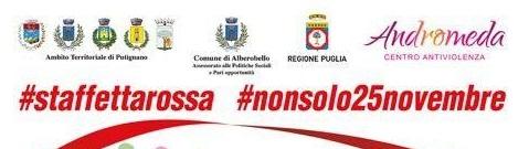 #Nonsolo25Novembre, domani primo appuntamento ad Alberobello con la #staffettarossa