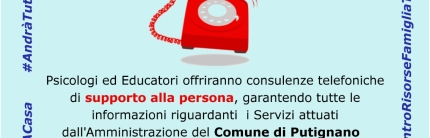 Coronavirus, a Putignano servizio gratuito di sostegno psicologico telefonico